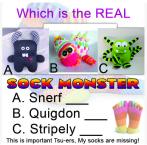 sock monster