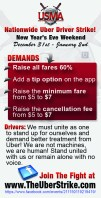 Uber Driver Strike Flyer