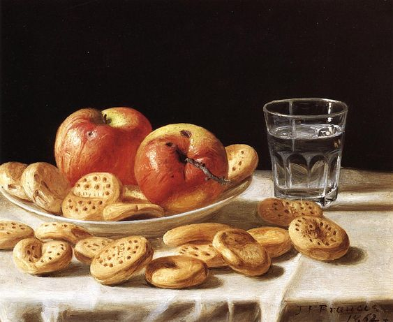 """""""Still Life with Apples and Biscuits"""". 1862."""