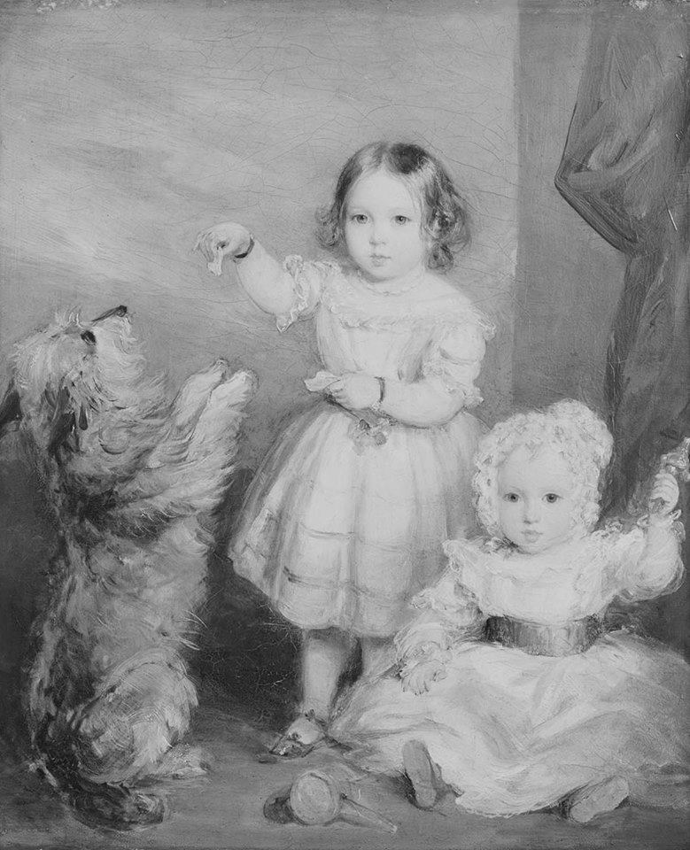"""Victoria Princess Royal and Albert Prince of Wales  1842."