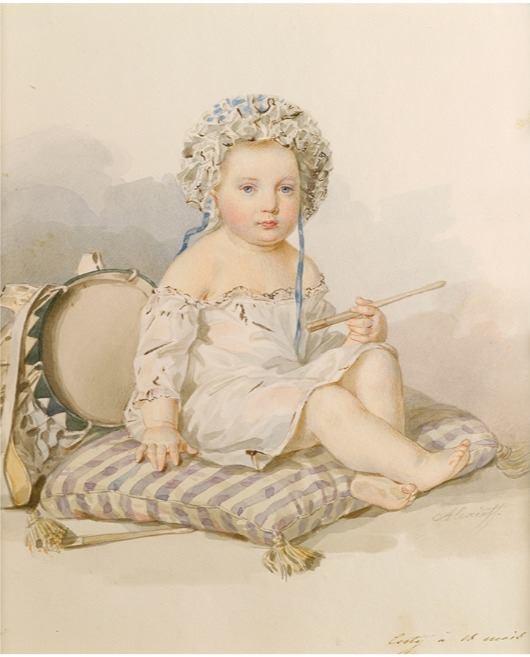 Described as a portrait of Grand Duke Konstantin Nikolaevich. 19th c.