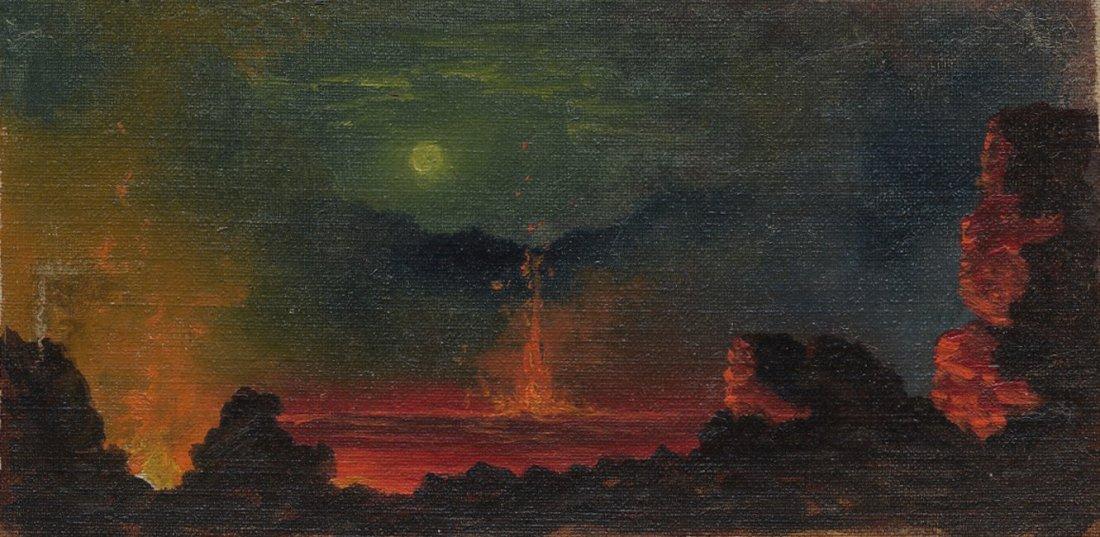 """Kilauea Caldera by Night."" Early 20th c."
