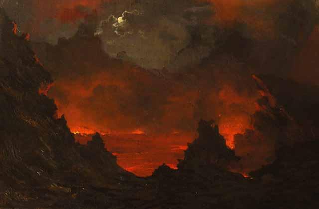 """Full Moon over Kilauea."" 1887."