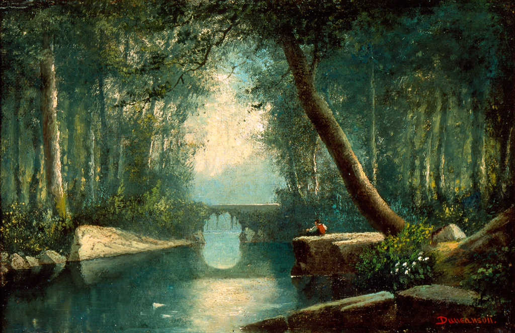 """Woodland Stream, an Idyll."" ca. 1865."