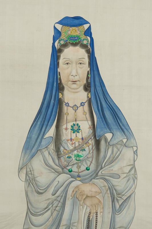 Portrait of the Empress Dowager Cixi as Guanyin.  late Qing dynasty, Chinese.