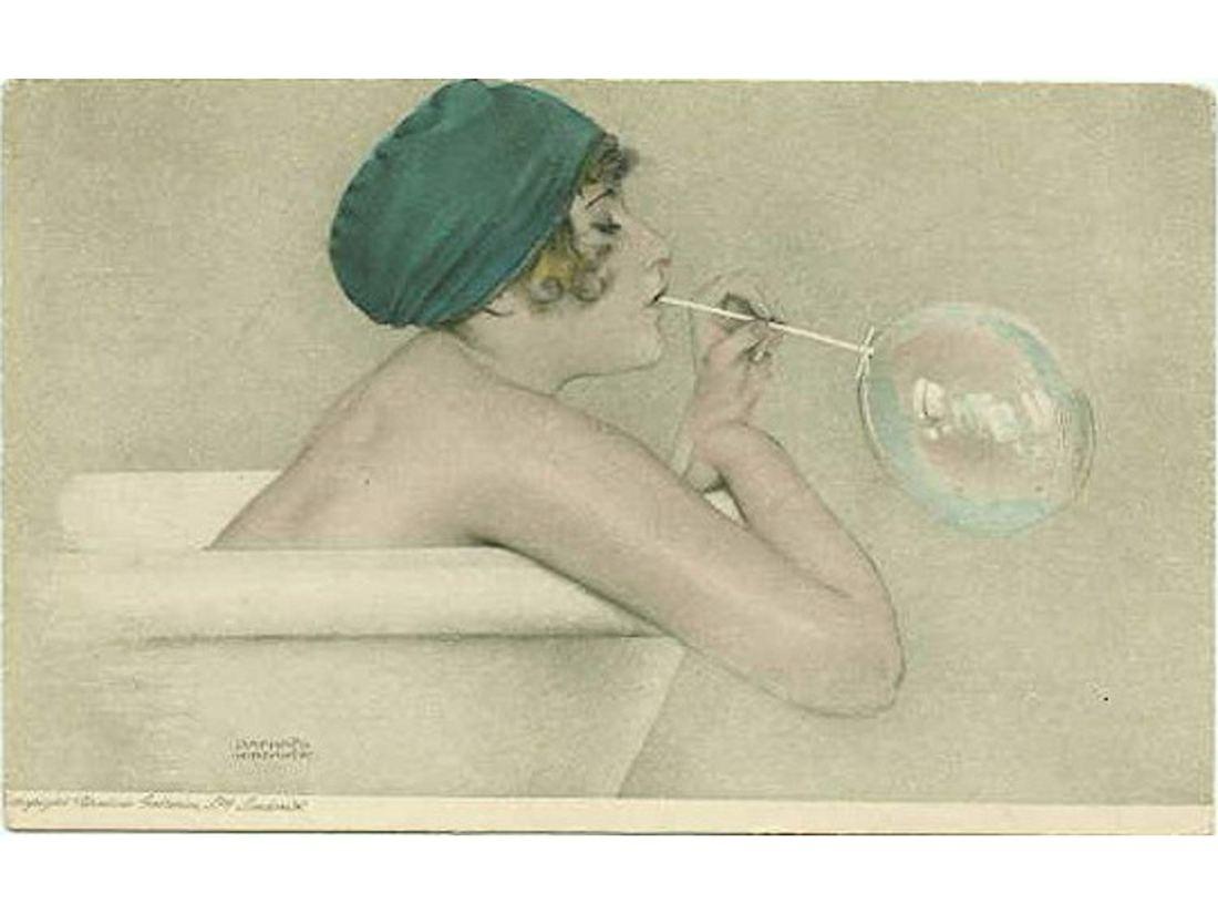 """""""Bubbles."""" Postcard."""