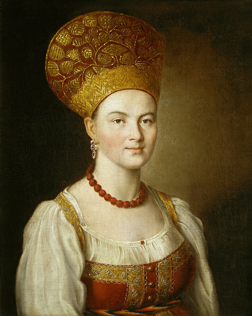 Portrait of an Unknown Woman in Russian Costume. 1784.