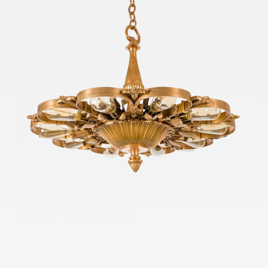 Neoclassical chandelier. Bronze. 1920's.