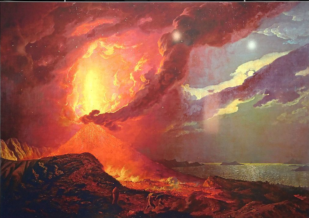 """Vesuvius in Eruption, with a View over the Islands in the Bay of Naples."" 18th c."