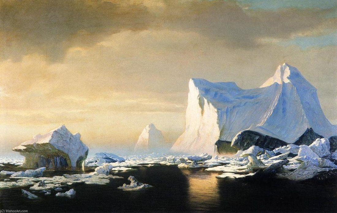 """Icebergs in the Arctic."" 1882."