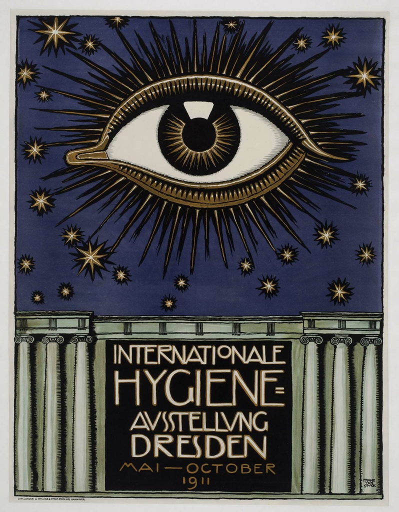 Poster for the International Health Exposition held in Dresden. 1911.