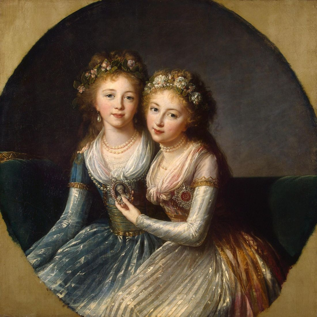 Alexandra and Elena, Daughters of Paul I of Russia. 1796.
