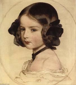 Princess Clotilde of Saxe-Coburg. 1855.