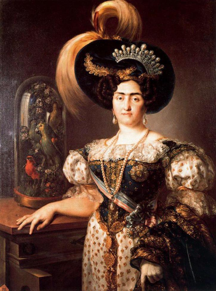 María Francisca de Braganza of Portugal. 1823.