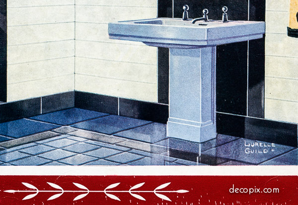 """Sink (detail). from """"Personality Bathrooms and Character Kitchens"""""""