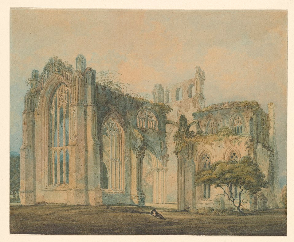 """Melrose Abbey on the Tweed."" 18th c."