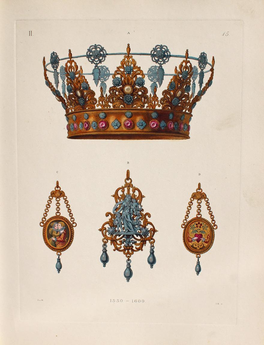 """Bridal crown of silver."" 1550-1600."