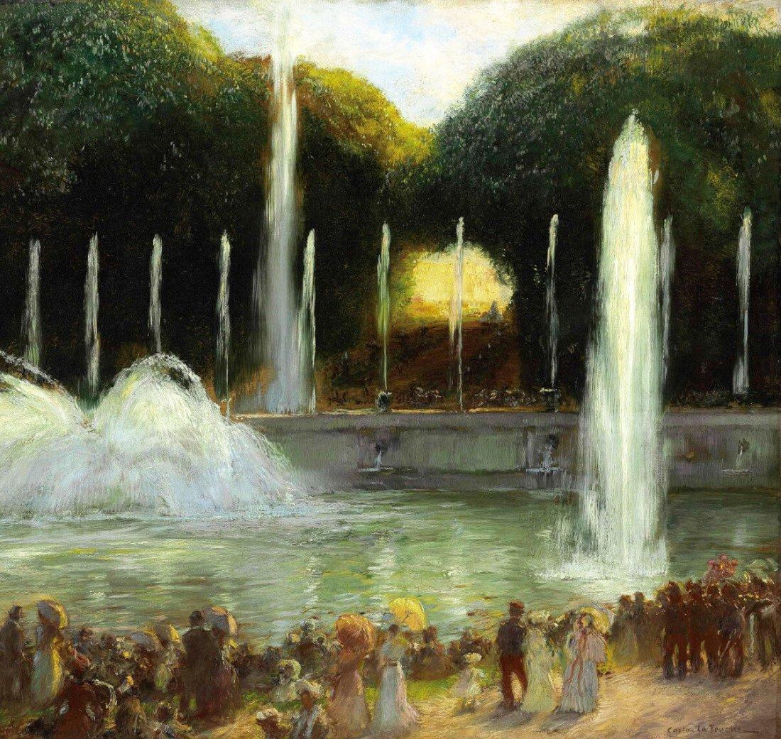 """Bassin de Neptune, Versailles. Undated."