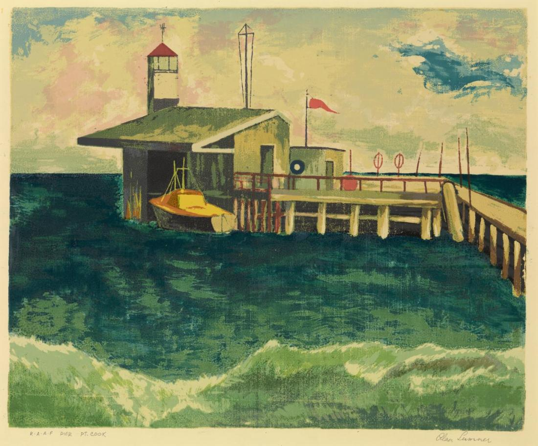 """R.A.A.F. pier, Point Cook."""