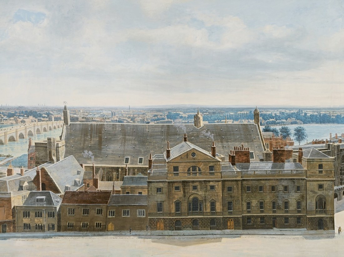 """""""Westminster Hall and the old Houses of Parliament."""""""