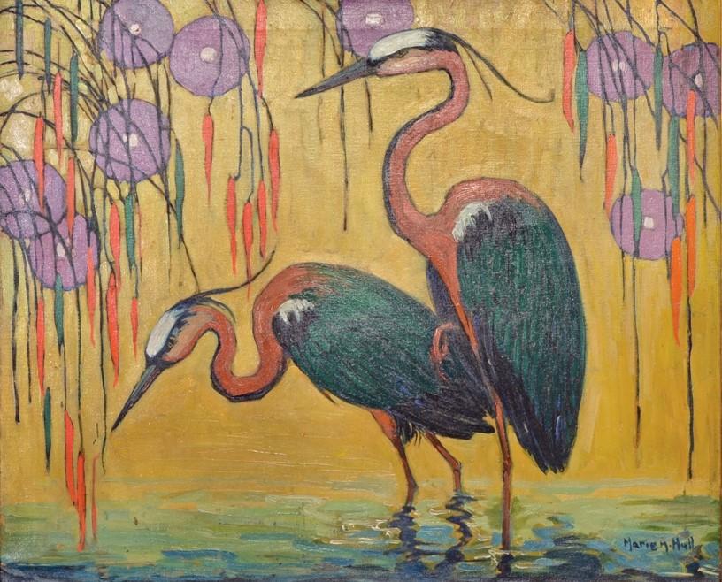 """""""Great Blue Herons."""" 1925."""