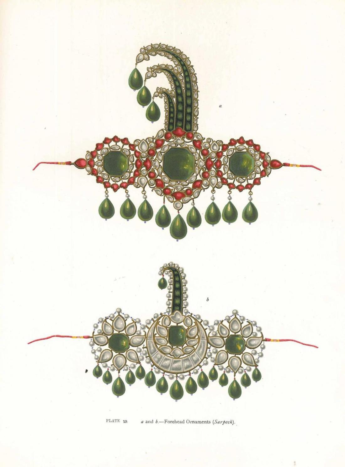 Forehead ornaments. Plate 19.