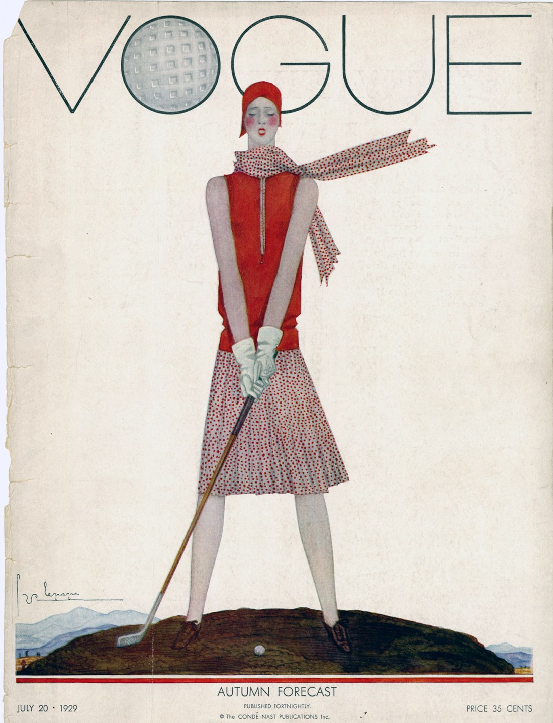 Cover for the July 20, 1929 issue of Vogue.
