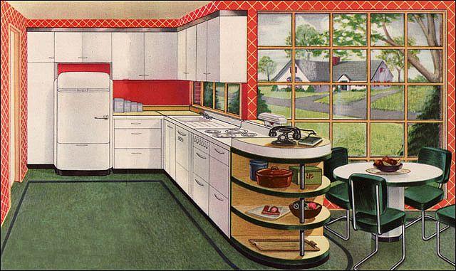 Hotpoint kitchen. 1944.