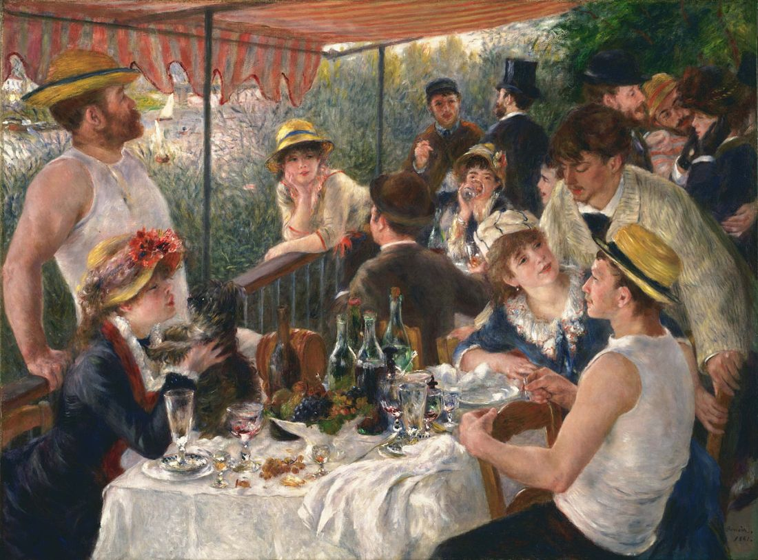 """""""Luncheon of the Boating Party."""" 1880-1881."""