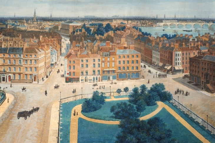 """""""Parliament Square and the view down Whitehall."""""""