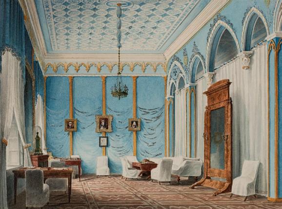 """Salon in the house of V. F. Marini in Odessa."" 1940's."