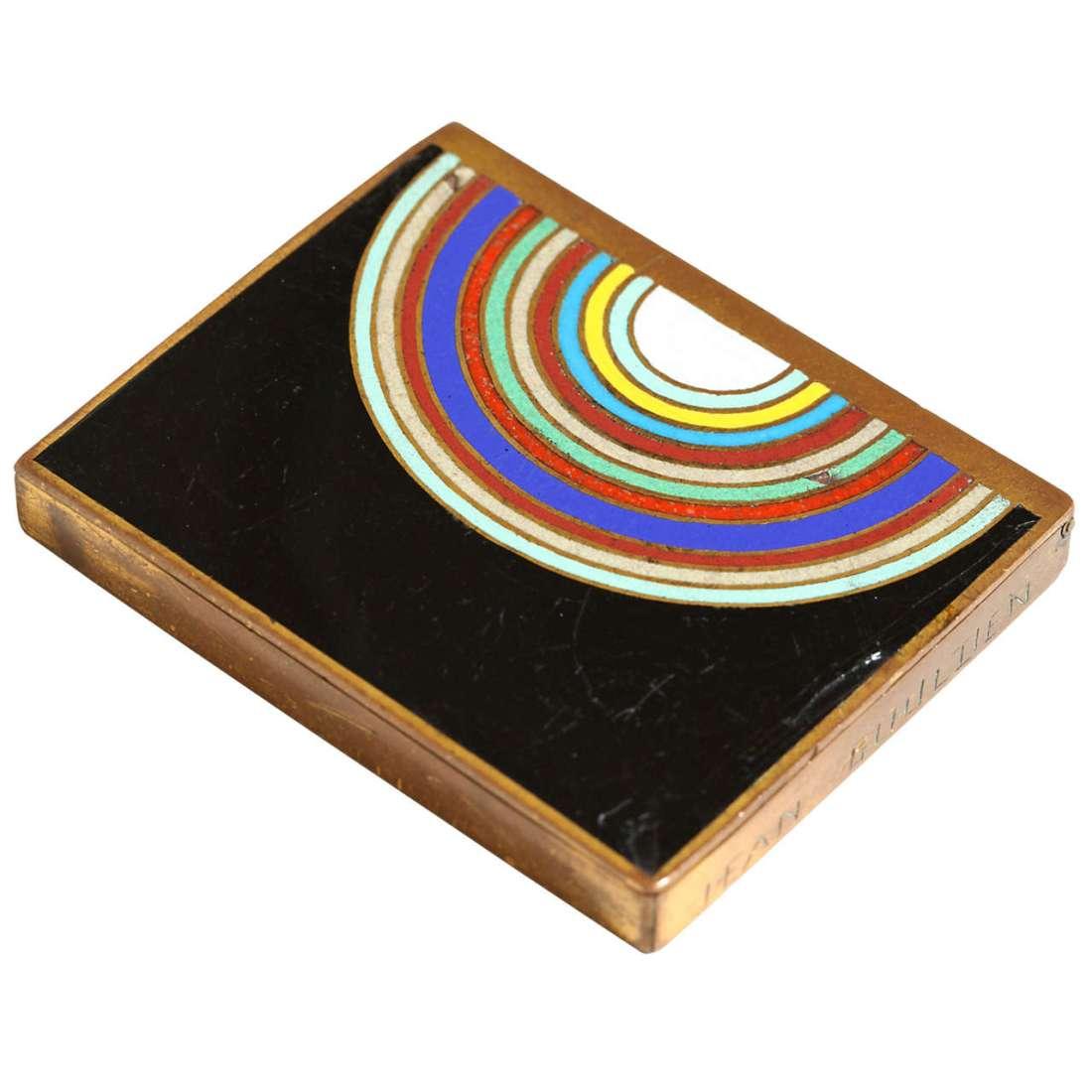Multi-colored box. 1920's to 1930's.