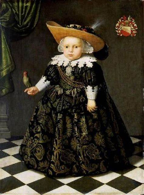 """""""Portrait of a five year old boy with a parrot."""" 1625-1650."""