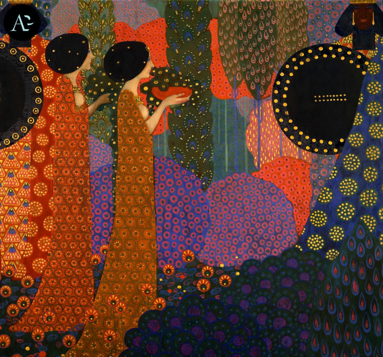 """""""Princess in the Garden"""" from the series """"Le Mille e una Notte."""" 1914."""