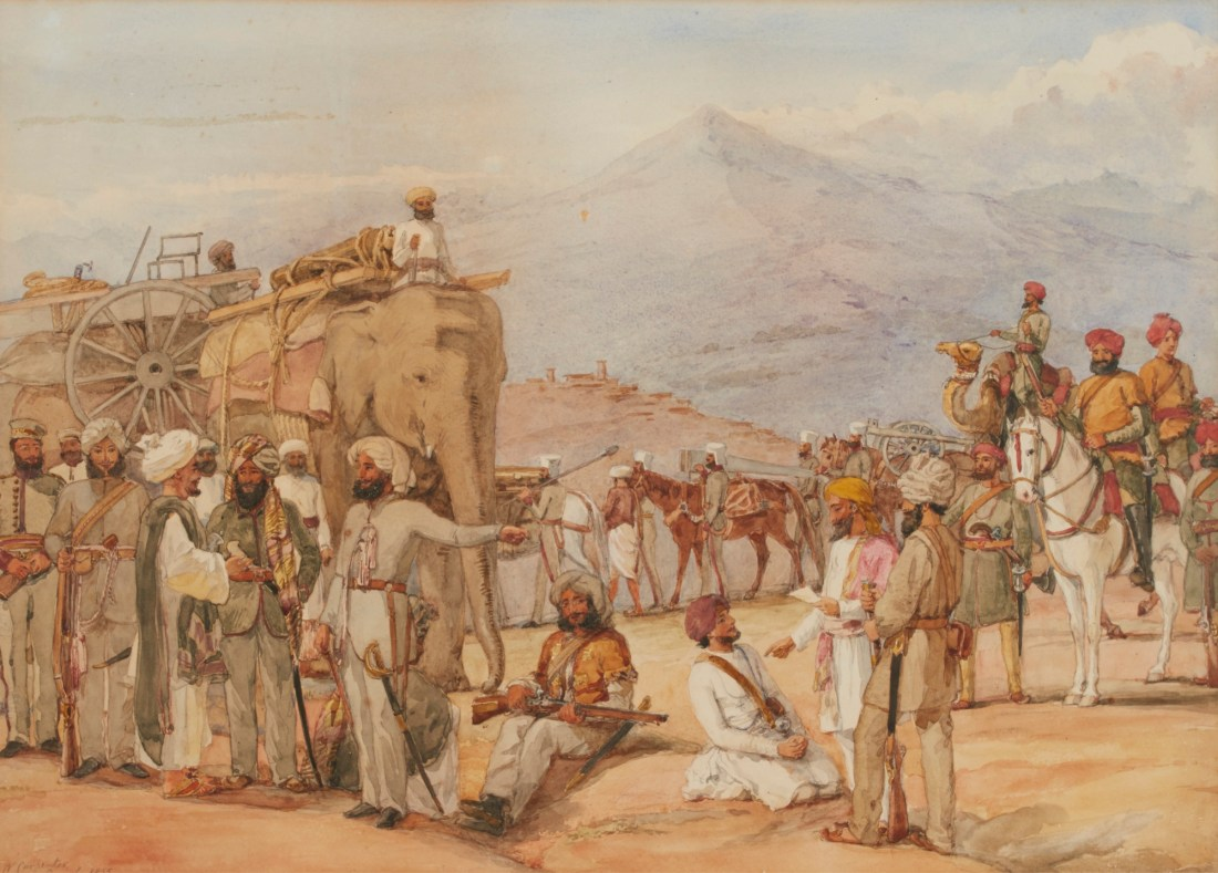"""""""Indian Soldiers on maneuvers in the Punjab."""""""