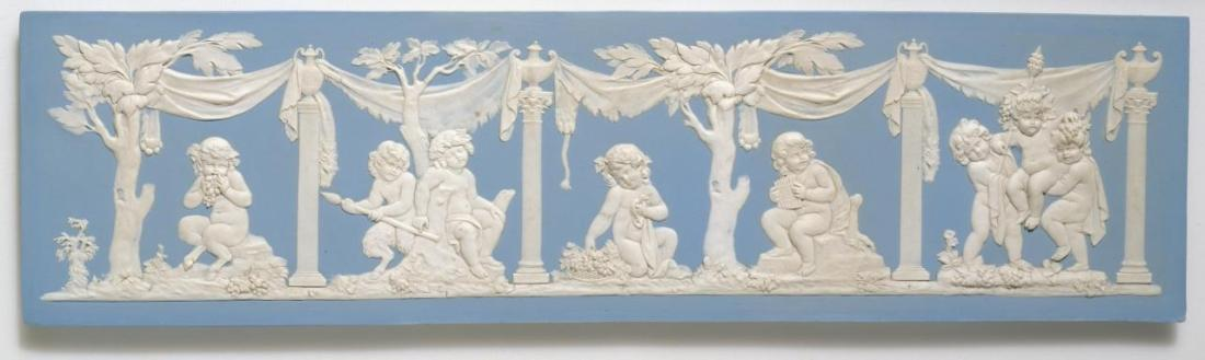 Plaque with bacchanalian boys. ca. 1790.