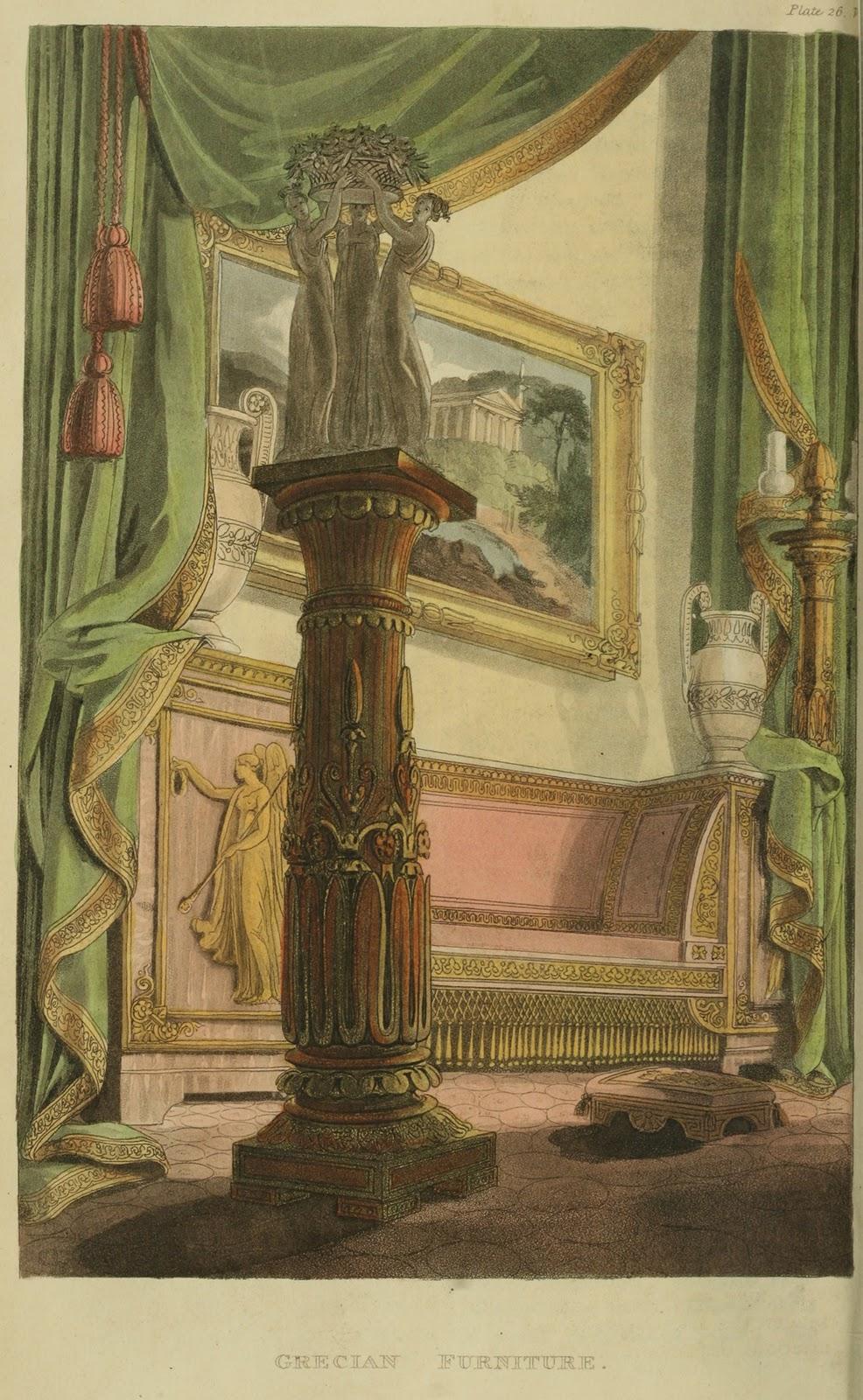 """""""Grecian Furniture."""" Plate 26."""