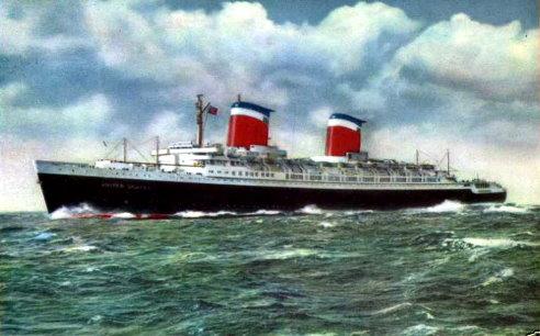 S.S. United States steamer. 1950's-1960's.