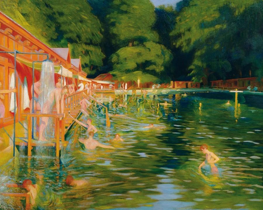 """Swimming pool."" 1905."