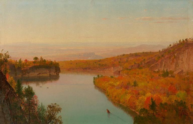 """Twilight at Shawangunk Mountains."" No date."