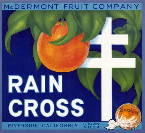 """Rain Cross."" McDermont Fruit Company, Riverside."