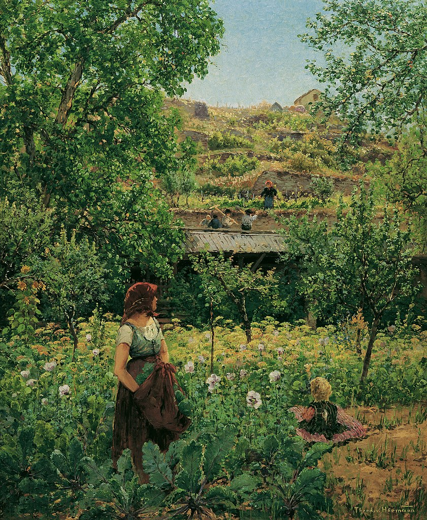 """Mädchen im Mohn."" ca. 1892."