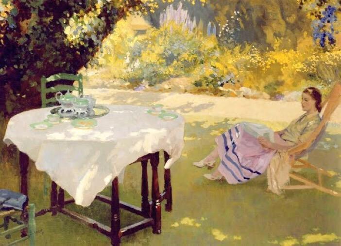 """""""In the Garden."""" ca. 1920's."""