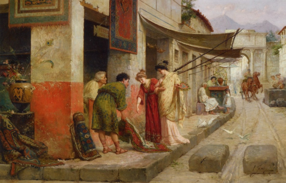 Merchant at Pompeii. No date.