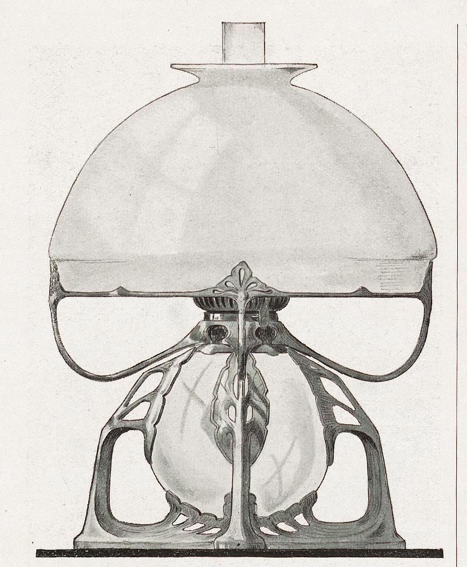 Petroleum lamp. ca. 1901.