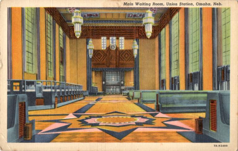 Main waiting room, Union Station, Omaha, Nebraska.