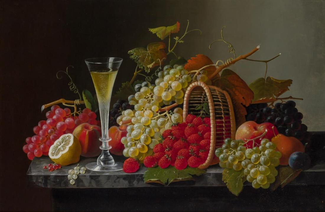 """""""Still Life with Fruit and Champagne."""""""