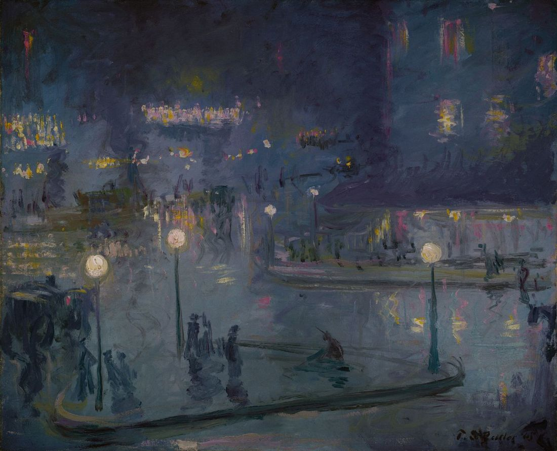 """""""Place de Rome at Night."""" 1905."""