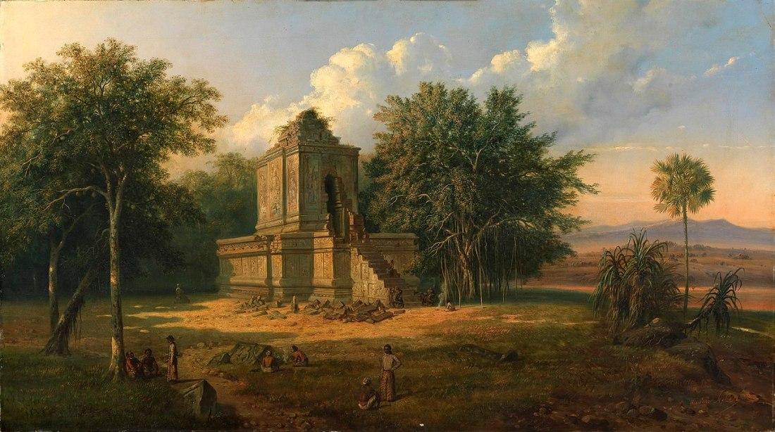 """""""Javanese Temple in Ruins."""" 1860."""
