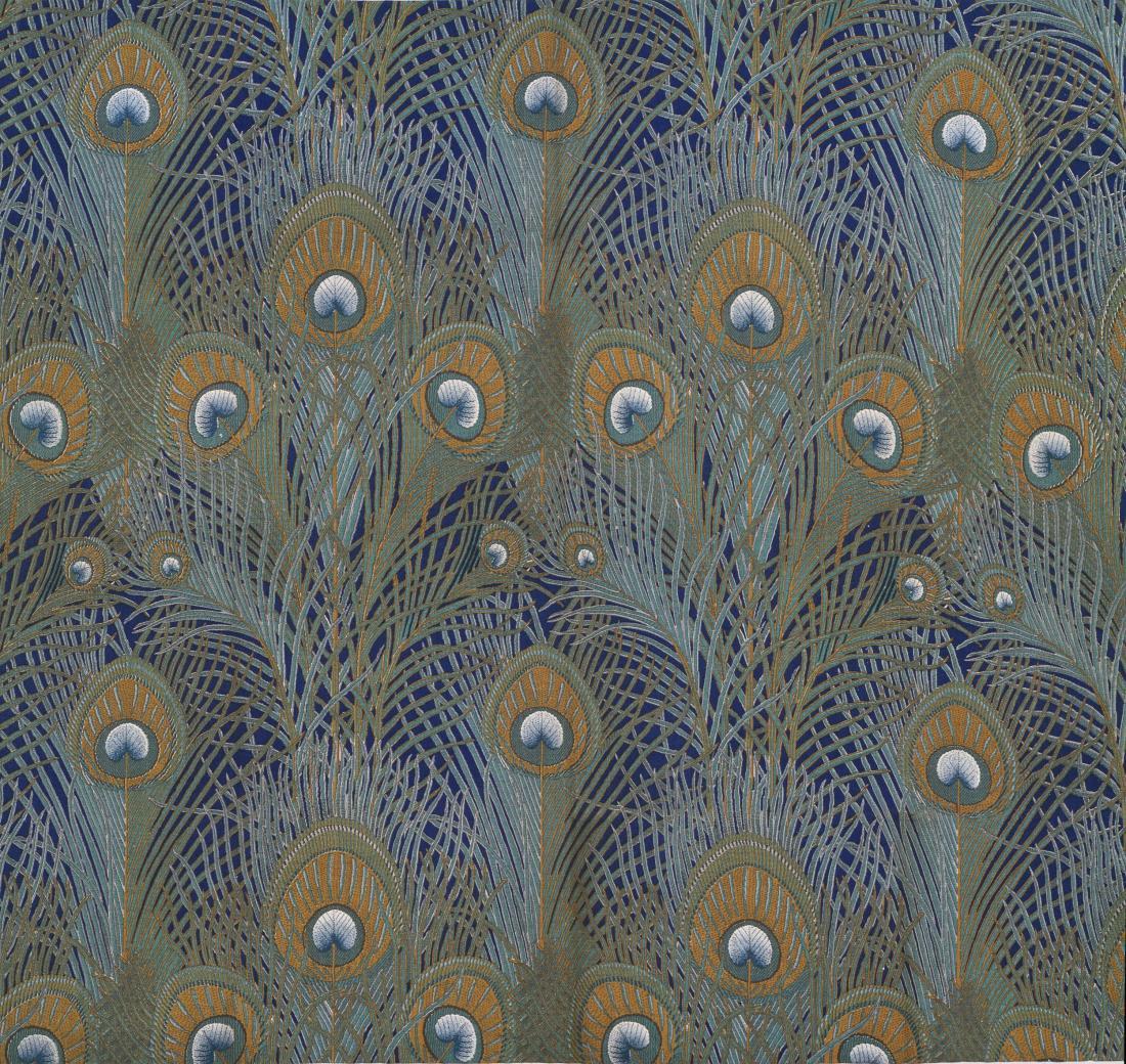 """Peacock Feathers."" 1887. Furnishing fabric."